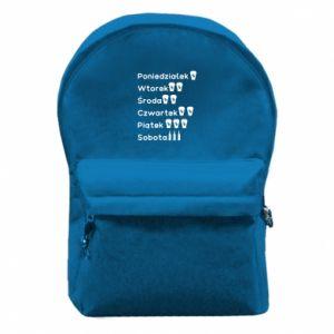 Plecak z przednią kieszenią Dni tygodnia