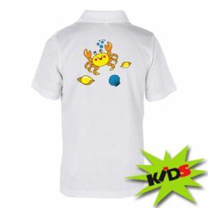 Dziecięca koszulka polo Dno morskie