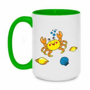 Two-toned mug 450ml Sea bottom