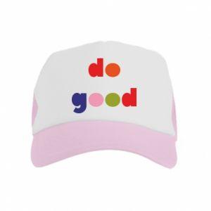 Czapka trucker dziecięca Do good