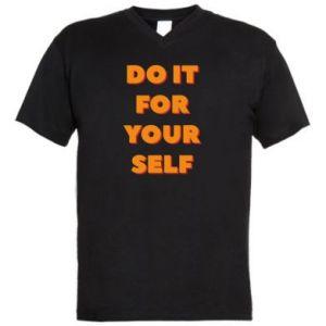 Męska koszulka V-neck Do it for yourself
