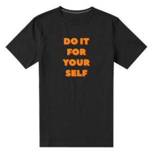 Męska premium koszulka Do it for yourself