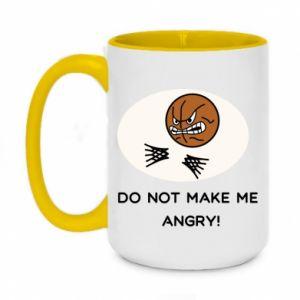 Two-toned mug 450ml Do not make me angry!