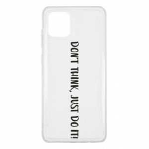 Etui na Samsung Note 10 Lite Do not think, just do it!