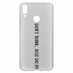 Etui na Huawei Y7 2019 Do not think, just do it!