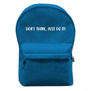 Plecak z przednią kieszenią Do not think, just do it!