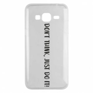 Etui na Samsung J3 2016 Do not think, just do it!