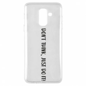 Etui na Samsung A6+ 2018 Do not think, just do it!