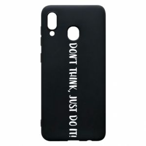 Etui na Samsung A30 Do not think, just do it!