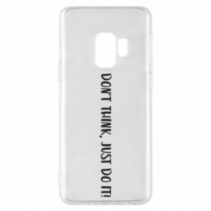 Etui na Samsung S9 Do not think, just do it!