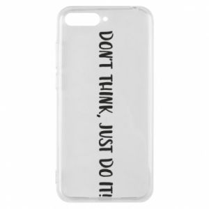 Etui na Huawei Y6 2018 Do not think, just do it!