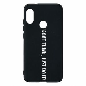 Etui na Mi A2 Lite Do not think, just do it!