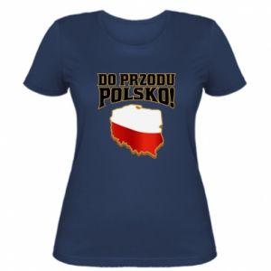 Koszulka damska Do przodu Polsko