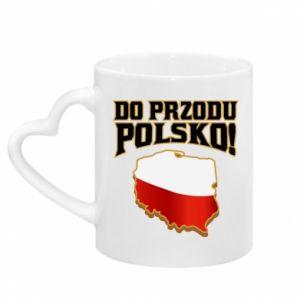 Kubek z uchwytem w kształcie serca Do przodu Polsko