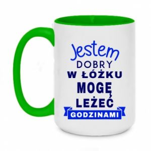 Two-toned mug 450ml Good in bed