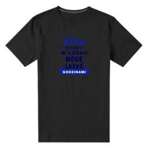 Męska premium koszulka Dobry w łóżku
