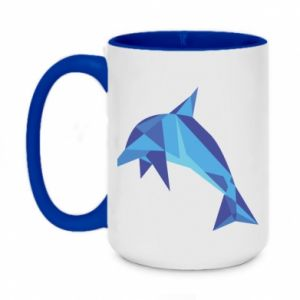 Kubek dwukolorowy 450ml Dolphin abstraction