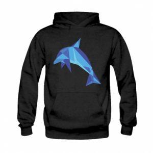 Bluza z kapturem dziecięca Dolphin abstraction