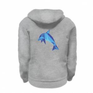 Bluza na zamek dziecięca Dolphin abstraction