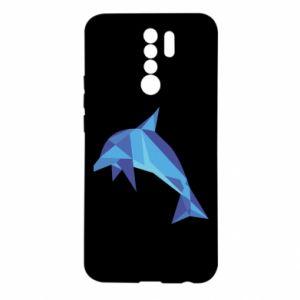Etui na Xiaomi Redmi 9 Dolphin abstraction