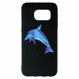 Etui na Samsung S7 EDGE Dolphin abstraction