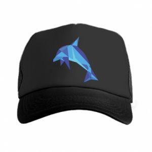 Trucker hat Dolphin abstraction - PrintSalon