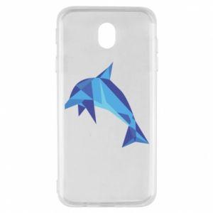 Etui na Samsung J7 2017 Dolphin abstraction