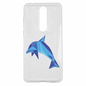 Etui na Nokia 5.1 Plus Dolphin abstraction