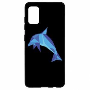 Etui na Samsung A41 Dolphin abstraction