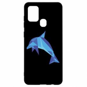 Etui na Samsung A21s Dolphin abstraction