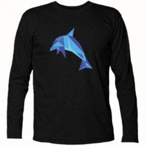 Long Sleeve T-shirt Dolphin abstraction - PrintSalon