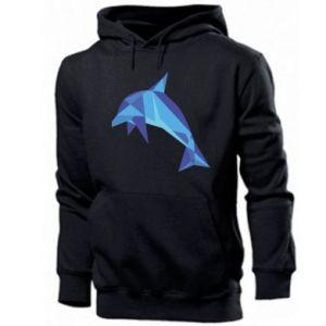 Men's hoodie Dolphin abstraction - PrintSalon