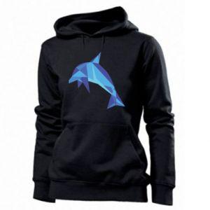 Women's hoodies Dolphin abstraction - PrintSalon