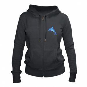 Women's zip up hoodies Dolphin abstraction - PrintSalon