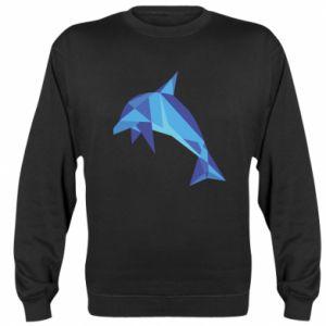 Sweatshirt Dolphin abstraction - PrintSalon