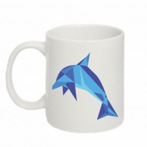Mug 330ml Dolphin abstraction - PrintSalon