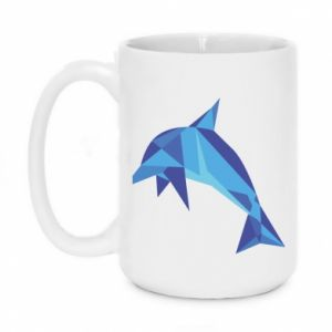Mug 450ml Dolphin abstraction - PrintSalon