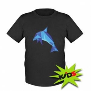 Kids T-shirt Dolphin abstraction - PrintSalon