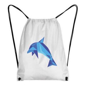Backpack-bag Dolphin abstraction - PrintSalon