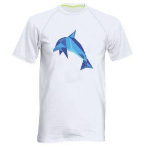 Men's sports t-shirt Dolphin abstraction - PrintSalon
