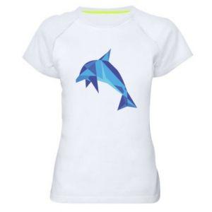 Women's sports t-shirt Dolphin abstraction - PrintSalon