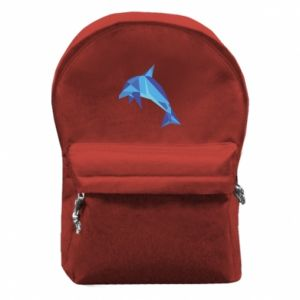 Backpack with front pocket Dolphin abstraction - PrintSalon