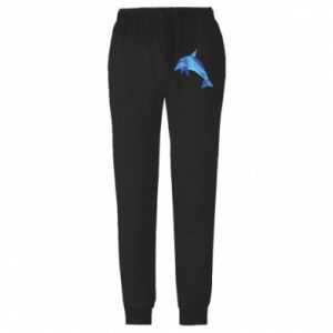 Męskie spodnie lekkie Dolphin abstraction - PrintSalon