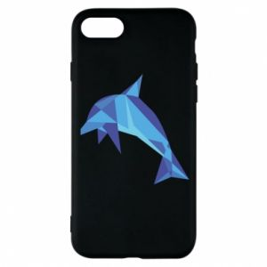 Phone case for iPhone 8 Dolphin abstraction - PrintSalon