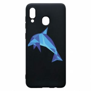 Phone case for Samsung A30 Dolphin abstraction - PrintSalon