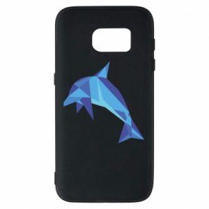 Phone case for Samsung S7 Dolphin abstraction - PrintSalon