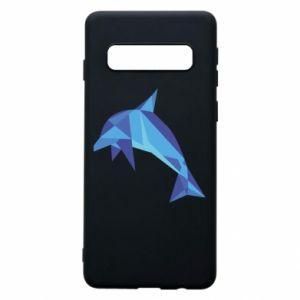 Phone case for Samsung S10 Dolphin abstraction - PrintSalon