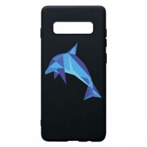 Phone case for Samsung S10+ Dolphin abstraction - PrintSalon