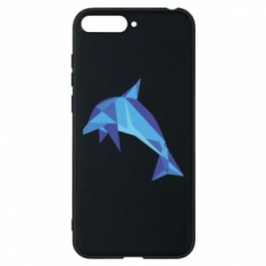 Phone case for Huawei Y6 2018 Dolphin abstraction - PrintSalon