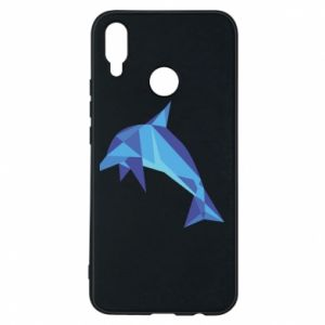 Phone case for Huawei P Smart Plus Dolphin abstraction - PrintSalon